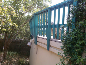 2 Deck Railing Before